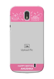 Nokia 1 plain birthday line arts Design