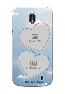 Nokia 1 couple heart frames with sky backdrop Design