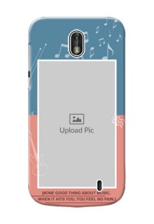 Nokia 1 2 colour backdrop with music theme Design