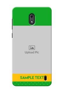 Nokia 2 Green And Yellow Pattern Mobile Cover Design