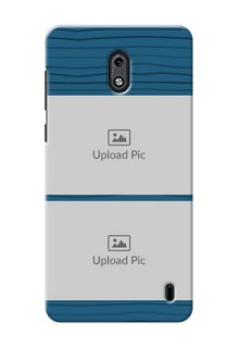 Nokia 2 Blue Pattern Mobile Case Design