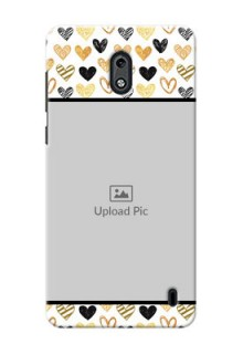 Nokia 2 Colourful Love Symbols Mobile Cover Design