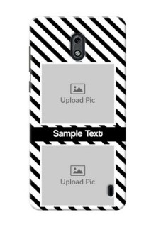 Nokia 2 2 image holder with black and white stripes Design
