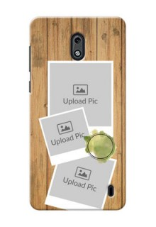 Nokia 2 3 image holder with wooden texture  Design
