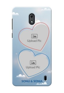 Nokia 2 couple heart frames with sky backdrop Design