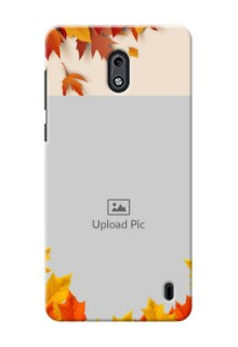 Nokia 2 autumn maple leaves backdrop Design