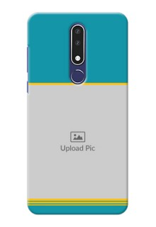 Nokia 3.1 Plus personalized phone covers: Yellow & Blue Design