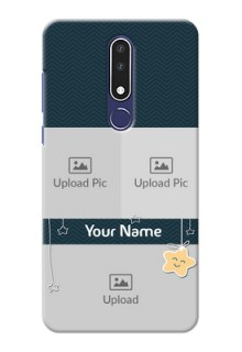 Nokia 3.1 Plus Mobile Back Covers Online: Hanging Stars Design