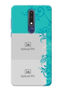 Nokia 3.1 Plus Mobile Cases with Photo and Green Floral Design