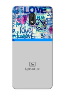 Nokia 3 Colourful Love Patterns Mobile Case Design