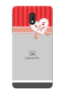 Nokia 3 Red Pattern Mobile Cover Design