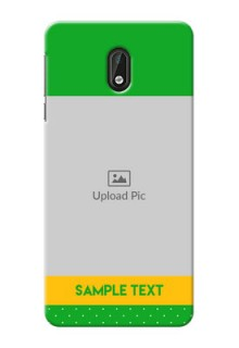 Nokia 3 Green And Yellow Pattern Mobile Cover Design