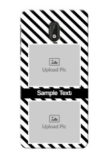 Nokia 3 2 image holder with black and white stripes Design