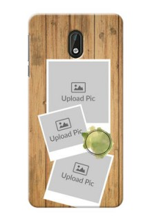 Nokia 3 3 image holder with wooden texture  Design