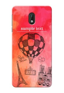 Nokia 3 abstract painting with paris theme Design