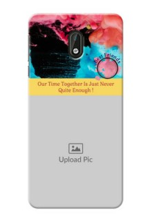 Nokia 3 best friends quote with acrylic painting Design
