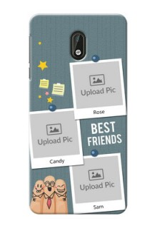 Nokia 3 3 image holder with sticky frames and friendship day wishes Design