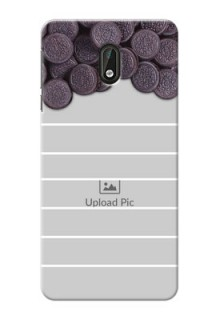 Nokia 3 oreo biscuit pattern with white stripes Design Design