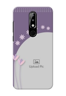Nokia 5.1 plus Phone covers for girls: lavender flowers design