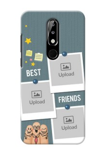 Nokia 5.1 plus Mobile Cases: Sticky Frames and Friendship Design