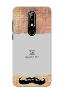 Nokia 5.1 plus Mobile Back Covers Online with Texture Design