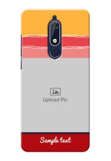 Nokia 5.1 custom mobile phone covers: Colorful Case Design