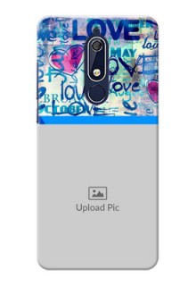 Nokia 5.1 Mobile Covers Online: Colorful Love Design