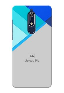 Nokia 5.1 Phone Cases Online: Blue Abstract Cover Design