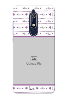 Nokia 5.1 Mobile Back Covers: Couples Heart Design