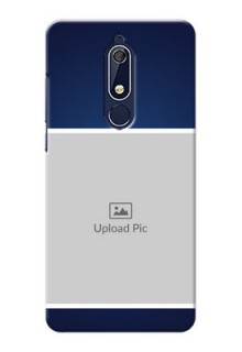 Nokia 5.1 Mobile Cases: Simple Royal Blue Design