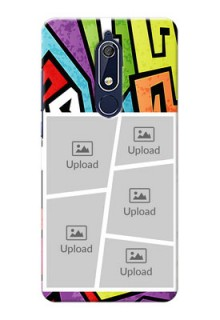 Nokia 5.1 Personalized Mobile Cases: graffiti pattern Design