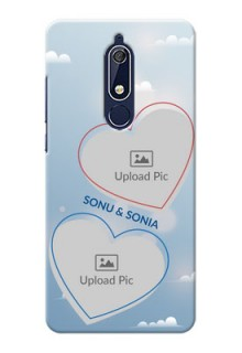 Nokia 5.1 Phone Cases: Blue Color Couple Design