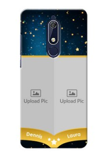 Nokia 5.1 Mobile Covers Online: Galaxy Stars Backdrop Design