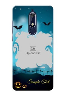 Nokia 5.1 Personalised Phone Cases: Halloween frame design