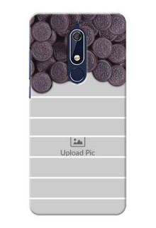 Nokia 5.1 Custom Mobile Covers with Oreo Biscuit Design