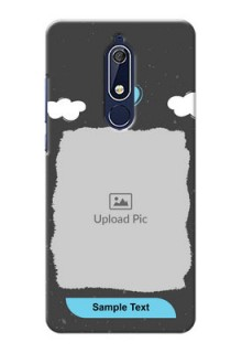 Nokia 5.1 Mobile Back Covers: splashes with love doodles Design
