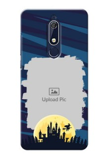 Nokia 5.1 Back Covers: Halloween Witch Design
