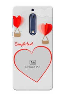 Nokia 5 Love Abstract Mobile Case Design