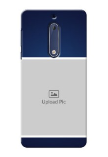 Nokia 5 Simple Blue Colour Mobile Cover Design