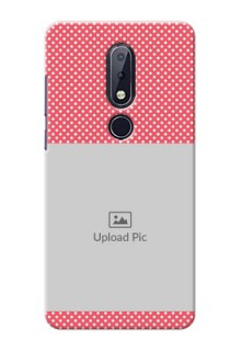 Nokia 6.1 Plus Custom Mobile Case with White Dotted Design