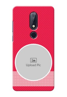 Nokia 6.1 Plus Mobile Covers Online: Pink Pattern Design