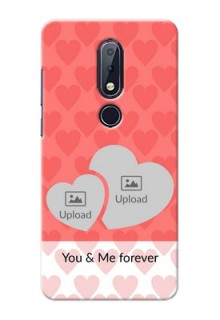 Nokia 6.1 Plus personalized phone covers: Couple Pic Upload Design