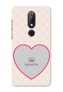 Nokia 6.1 Plus Personalized Mobile Covers: Heart Shape Design