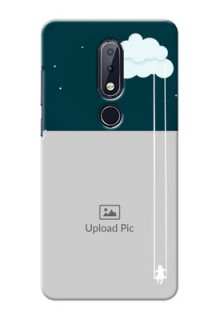 Nokia 6.1 Plus custom phone covers: Cute Girl with Cloud Design