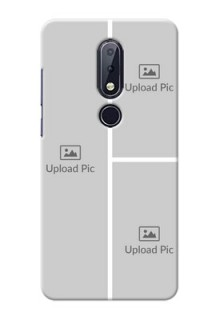 Nokia 6.1 Plus Custom Mobile Cover: Upload Multiple Picture Design