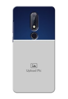 Nokia 6.1 Plus Mobile Cases: Simple Royal Blue Design