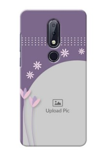 Nokia 6.1 Plus Phone covers for girls: lavender flowers design
