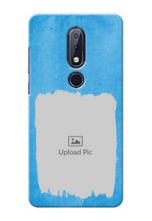Nokia 6.1 Plus custom mobile cases: Blue Color Vintage Design