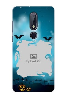 Nokia 6.1 Plus Personalised Phone Cases: Halloween frame design