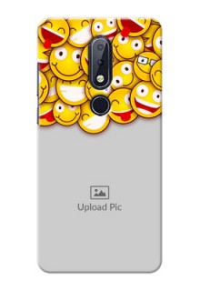 Nokia 6.1 Plus Custom Phone Cases with Smiley Emoji Design
